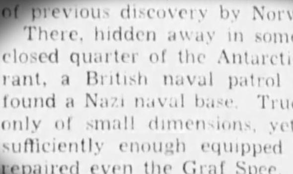 Los informes afirman que la Royal Navy encontró una base nazi en la Antártida