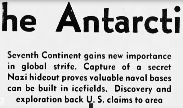 Reportaje periodístico de 1938 que trata sobre una oculta base nazi