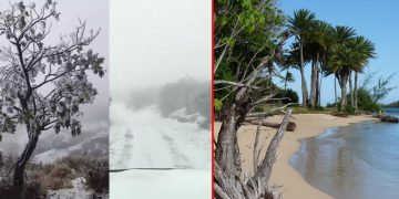 Cae nieve en Hawaii y olas de hasta 18 metros golpean su costa