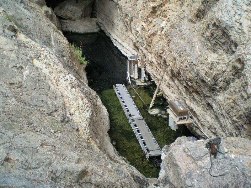 Actualmente el sitio de Devils Hole, se encuentra cerrado al público