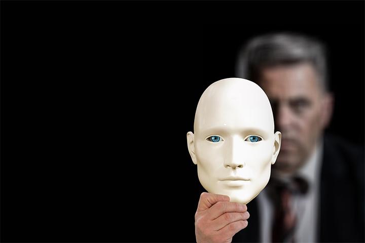 Imagen referencial de una «máscara» pública de una persona