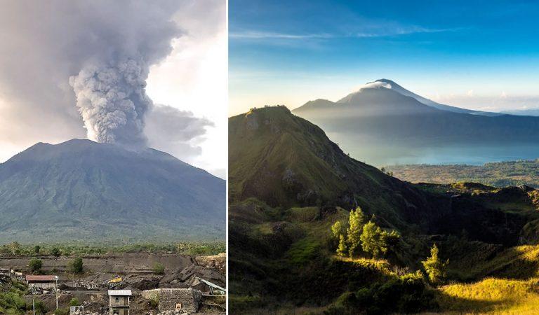 Dos volcanes en Bali están conectados de forma subterránea y podrían explotar como en 1963 matando a 1.600 personas