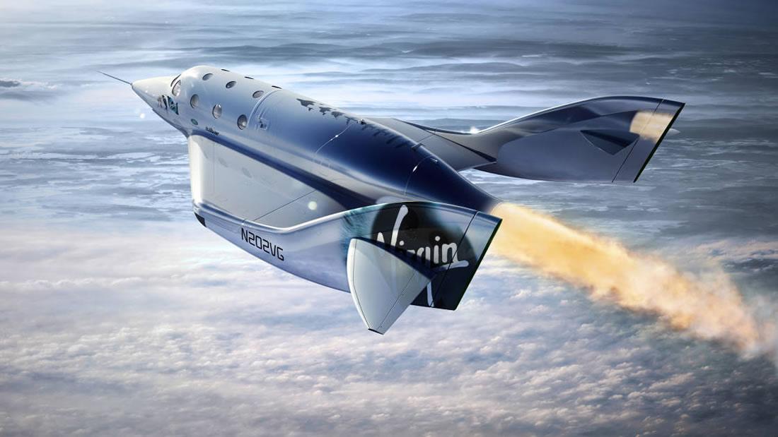 El avión espacial de Virgin Galactic lleva a su primer pasajero al espacio