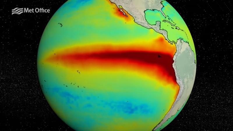 La NOAA ha comunicado que las condiciones en el Pacífico tropical ahora califican para ser consideradas como El Niño