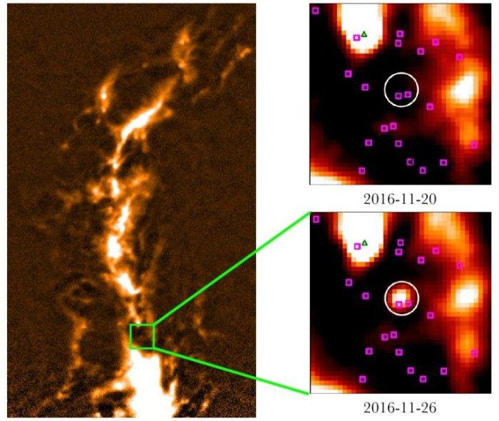 Esta es la gigantesca llamarada estelar observada