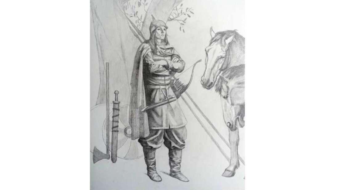La ocupante de la tumba Bj.581 representada como una guerrera de alto estatus