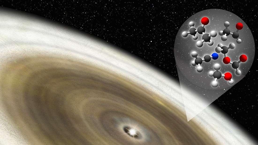 Hallan moléculas orgánicas alrededor de una estrella joven