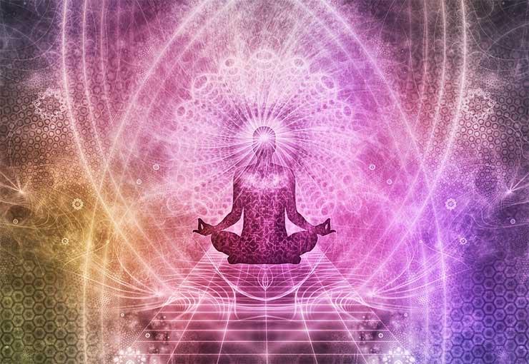 Imagen ilustrativa de meditación y conexión con la quinta dimensión