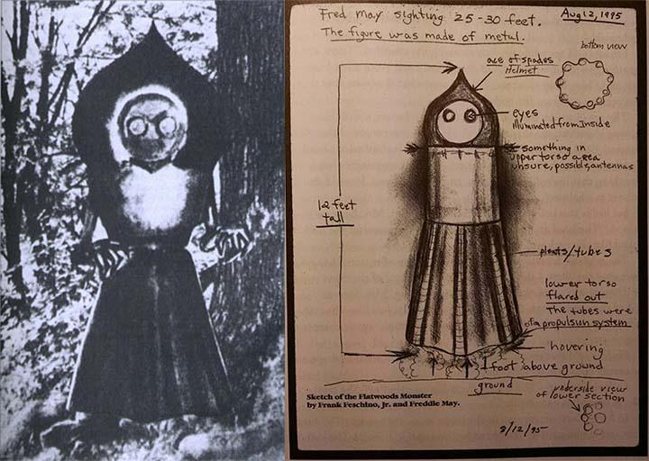Ilustraciones del Monstruo de Flatwoods