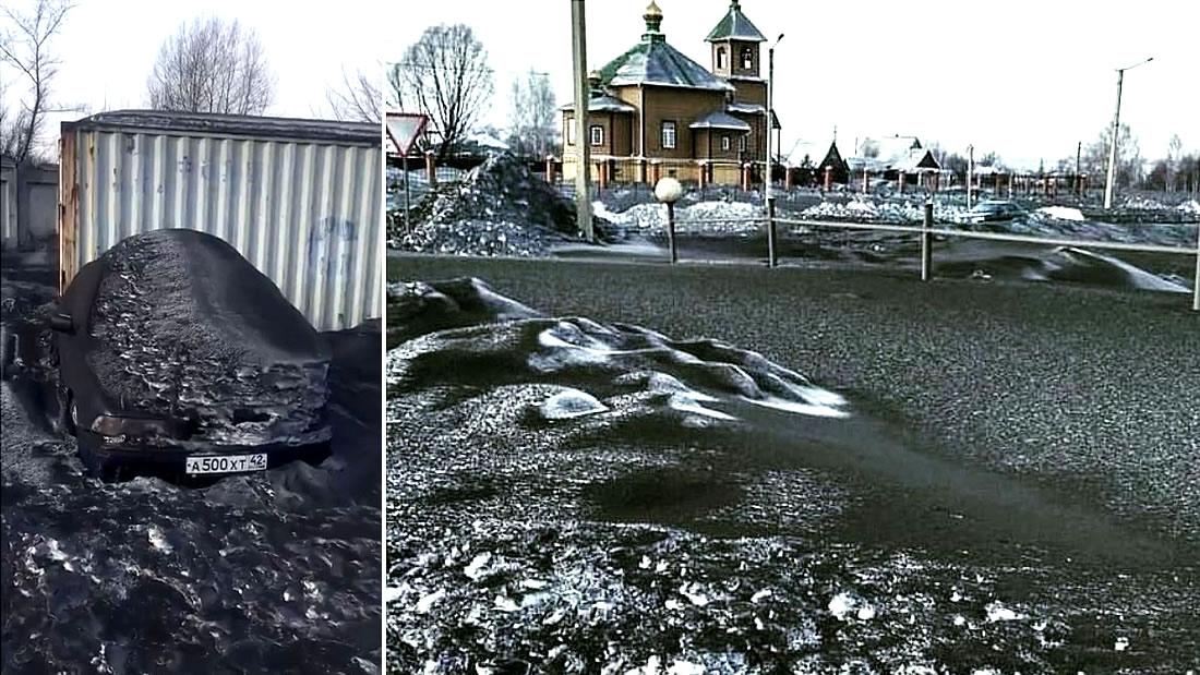 Nieve negra está cayendo en Siberia