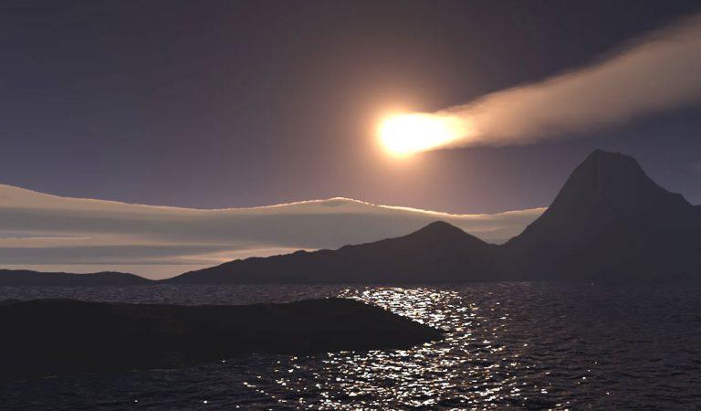 Una «bola de fuego» cae en el Océano Índico