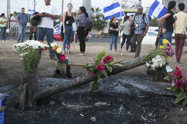 Homenaje a los más de 60 asesinados durante las protestas ciudadanas en Nicaragua. Abril 2018