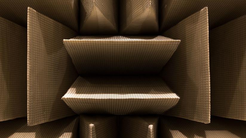 Una vista a la pared de la habitación más silenciosa del mundo