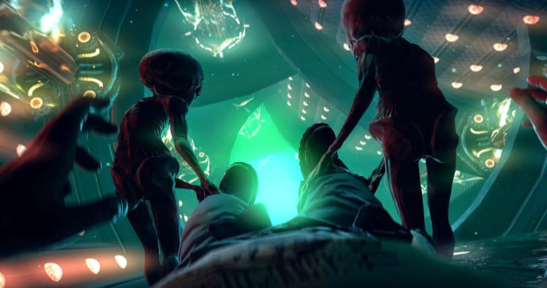 Una abducción extraterrestre, imagen referencial