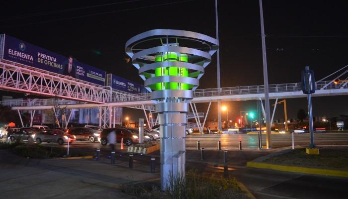 Una de la torres Biourban en funcionamiento