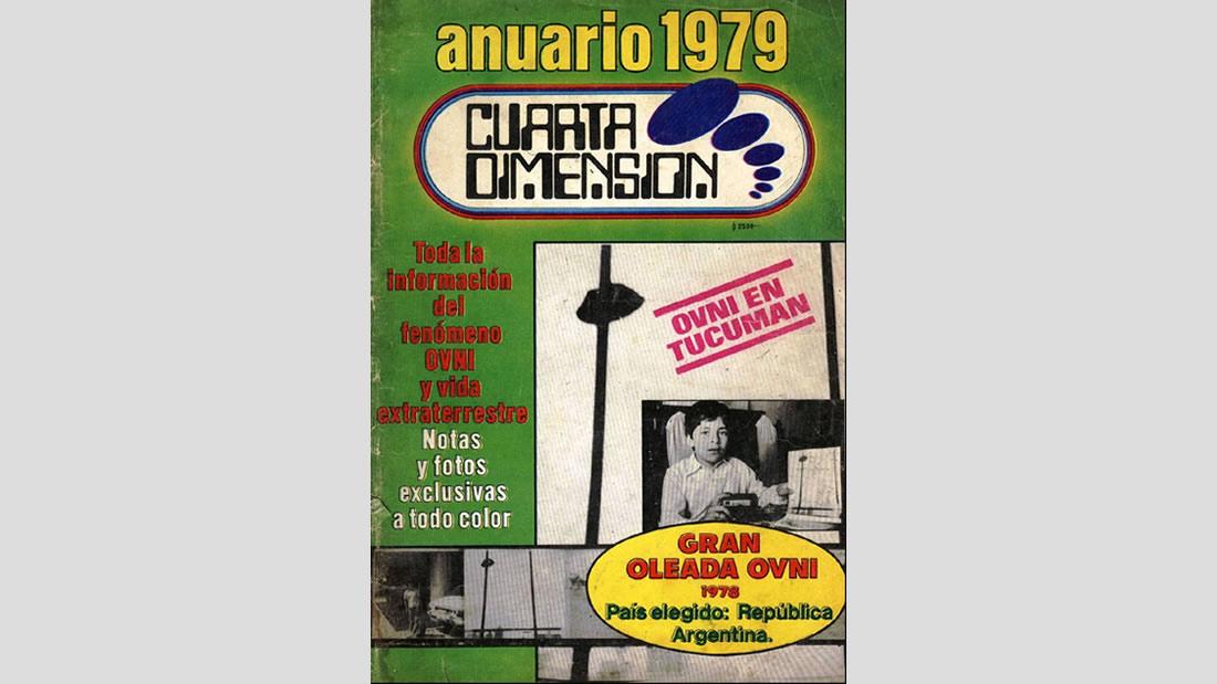 La legendaria Cuarta Dimensión, revista dirigida por Fabio Zerpa, denunciando en su tapa, la oleada argentina de 1978