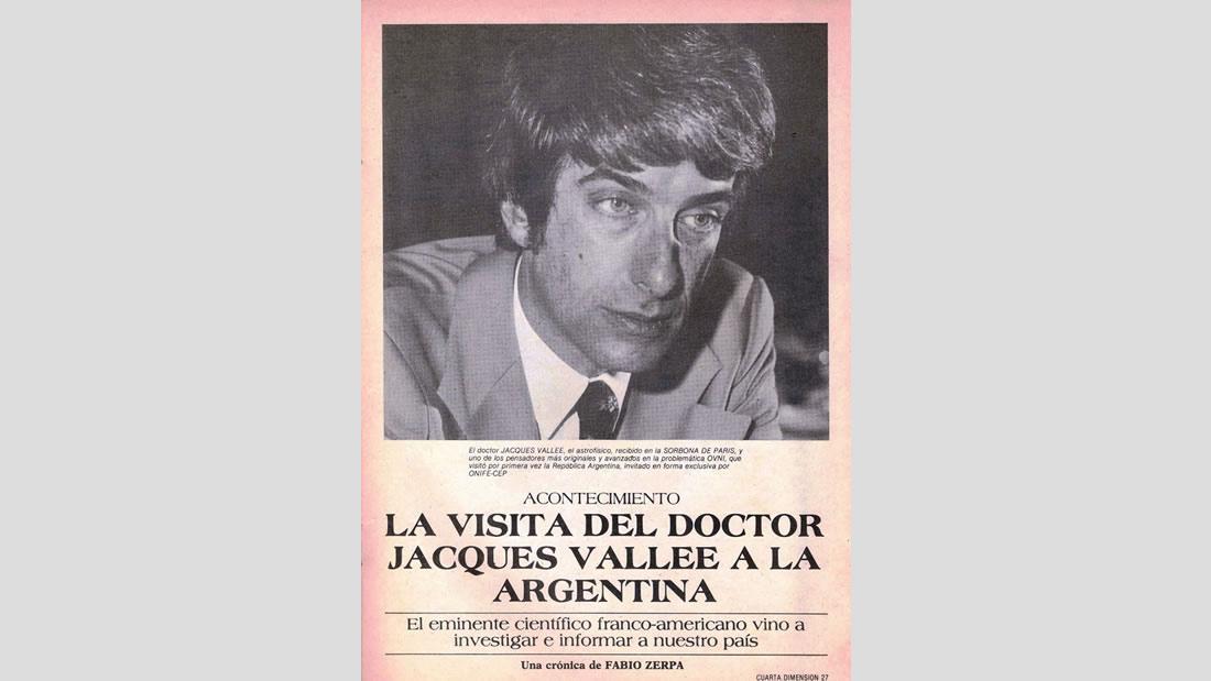 Retrato de Jacques Vallée durante su visita a la Argentina, 1980