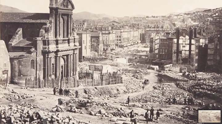 Ejemplo de una inundación de barro y el reseteo de ciudades. Imagen referencial