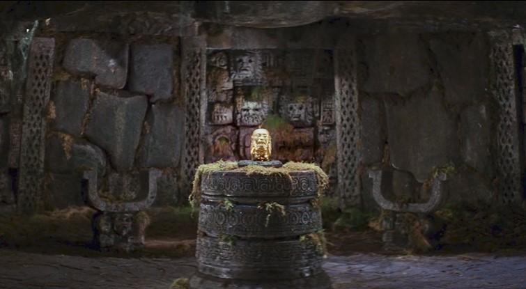 Idolo Chachapoyas, icónica escena, de los Cazadores del Arca Perdida