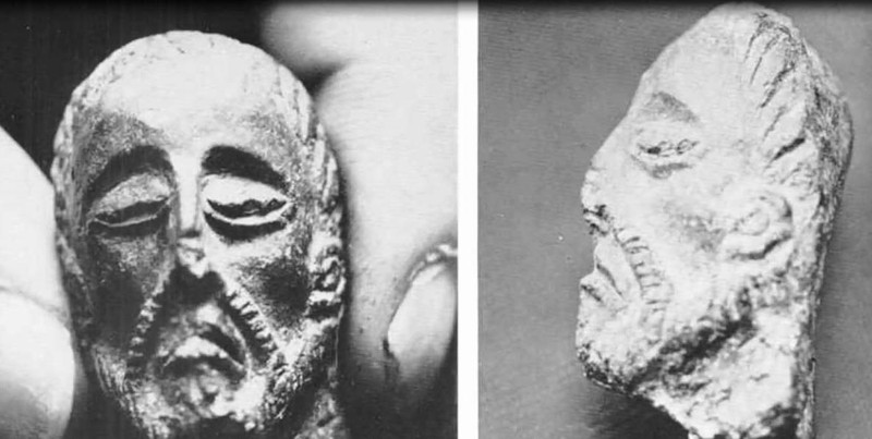 Efigie encontrada por Gene Savoy, en ruinas Chachapoyas, representando a Viracocha