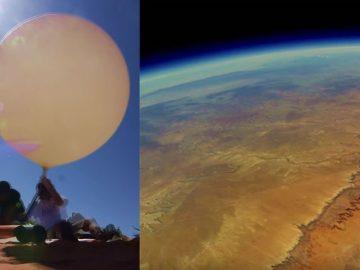 GoPro enviada al espacio en un globo es encontrada luego de dos años con imágenes de la Tierra