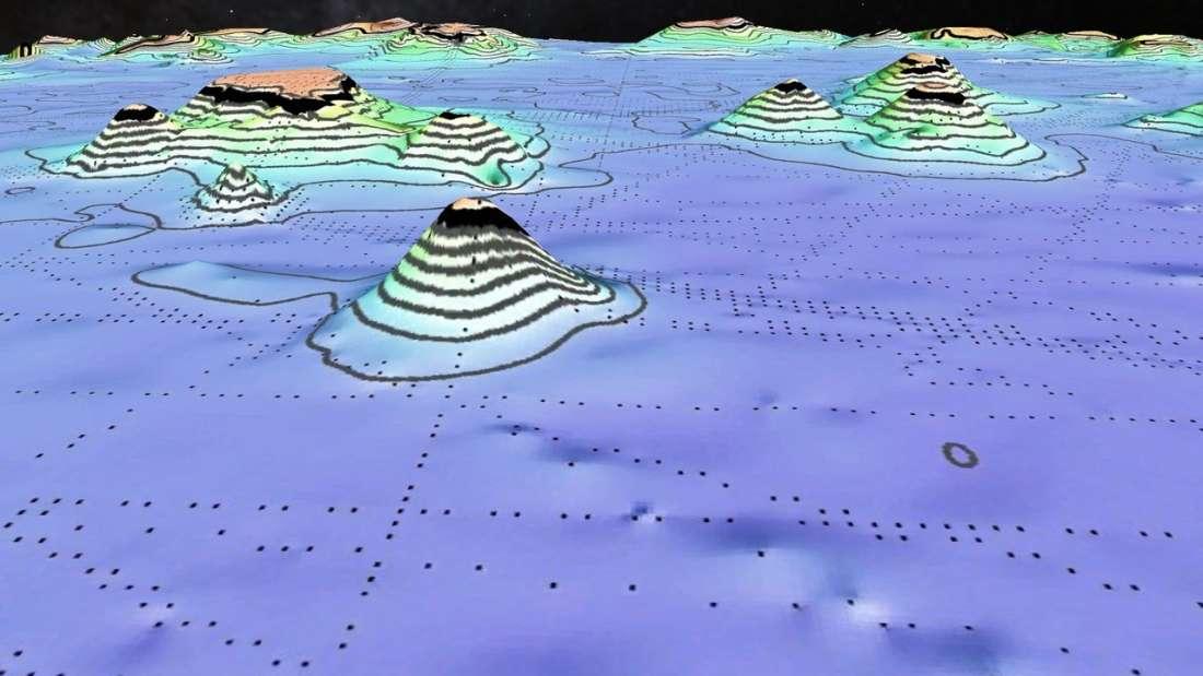 Mapa revela miles de montañas submarinas desconocidas hasta ahora