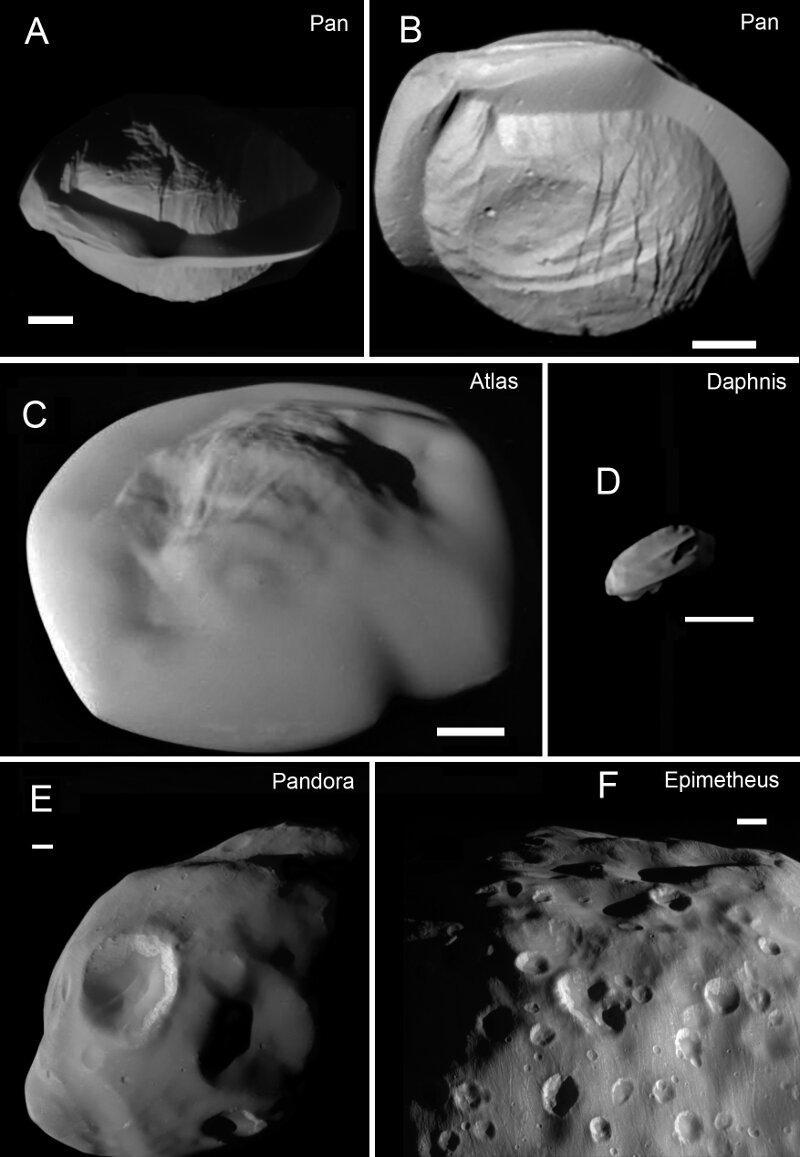 Impresionantes fotografías de las minilunas de Saturno (entre sus anillos)