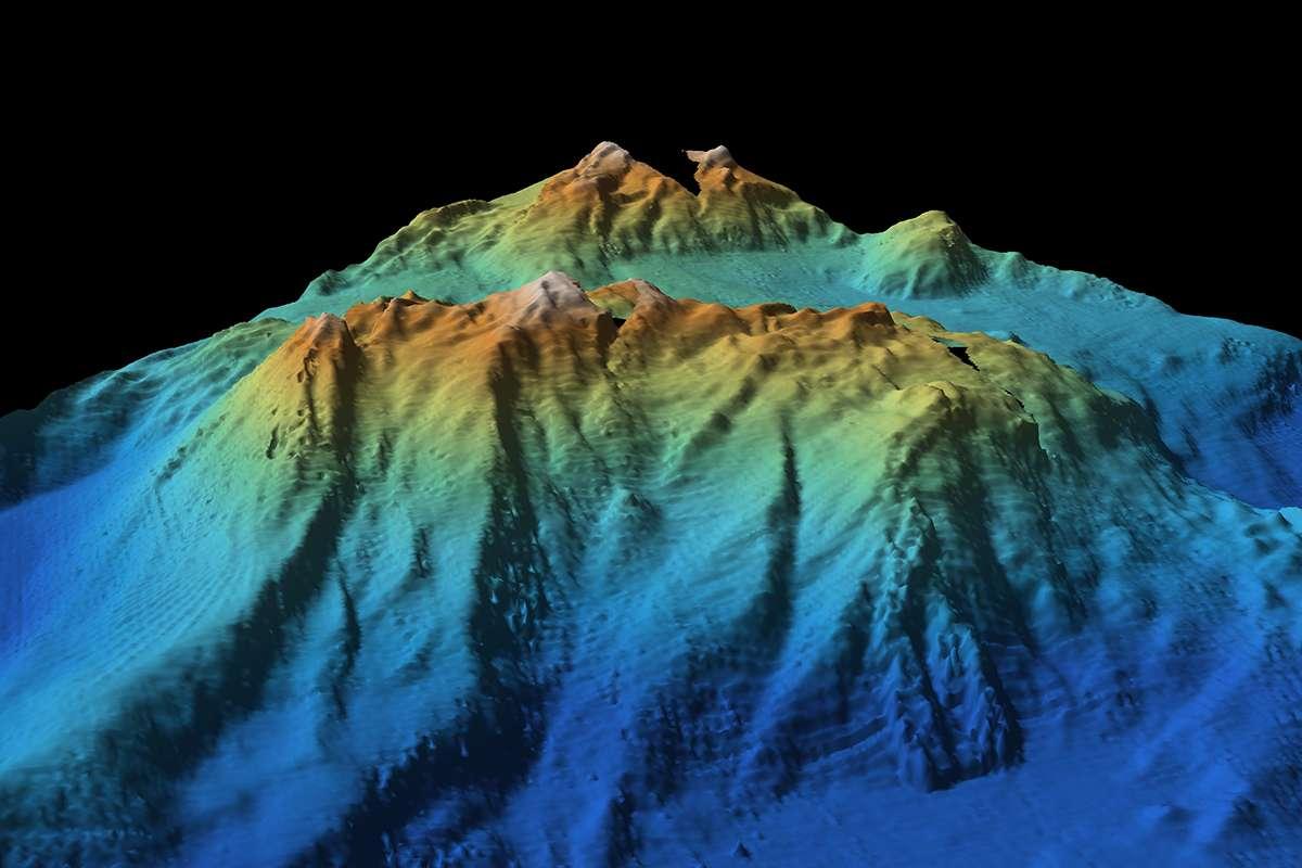 El monte submarino Noroit se encuentra en el mar Caribe