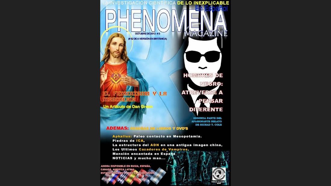 La importante revista Phenomena Magazine, que en 2013 publicara mi artículo, sobre Las Piedras de Ica.