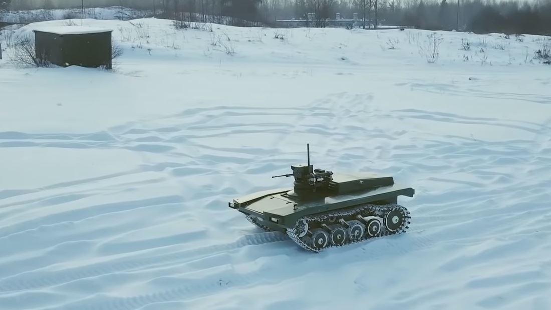 Rusia está creando una fuerza terrestre de robots militares armados