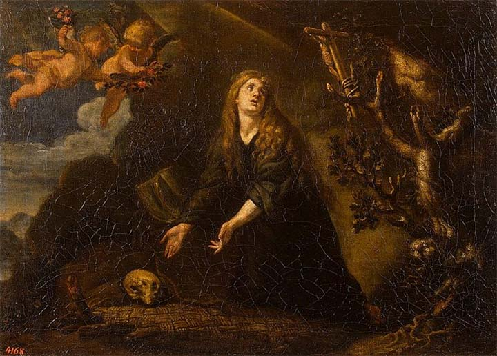 Santa María Magdalena penitente, pintura de Claudio Coello