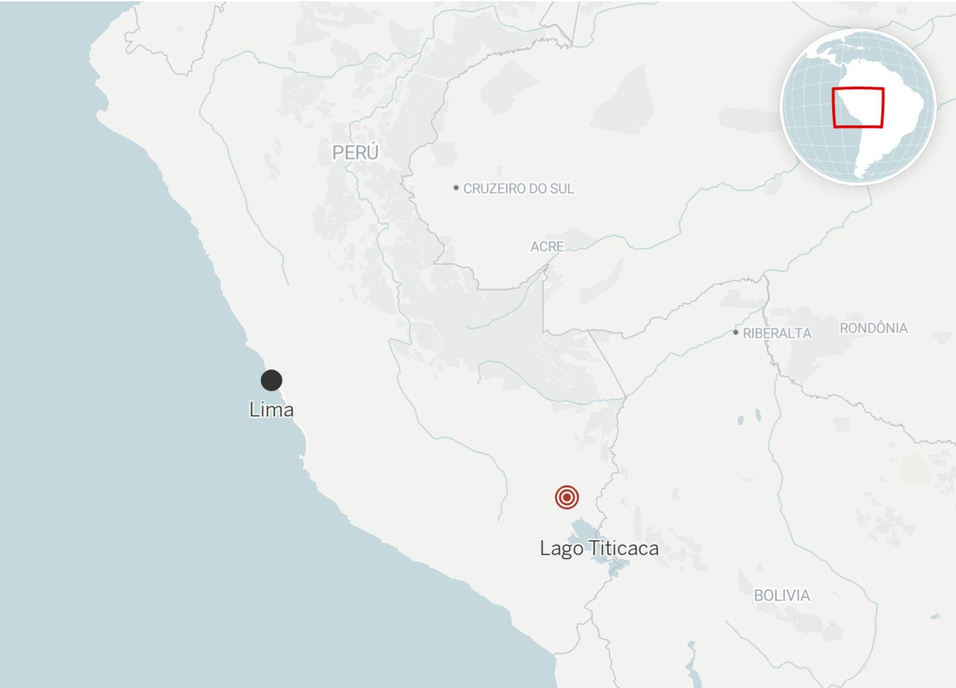 Localización del sismo ocurrido en Perú