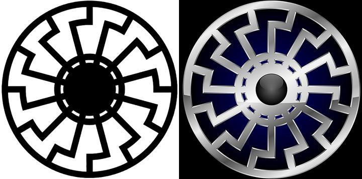Representaciones del Sol negro