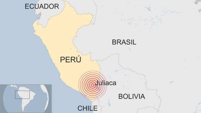 Un fuerte sismo de 7.1 de magnitud sacudió la región sur de Perú, norte de Chile y parte de Bolivia