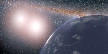 Un mundo alienígena fue salvado del exilio interestelar por la gravedad de un par de estrellas