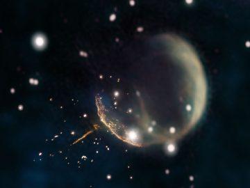 Una estrella de neutrones está atravesando la Vía Láctea a 4 millones de km/h impulsada por una supernova