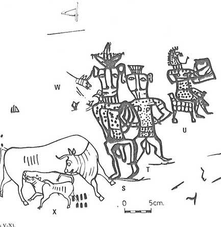 Dibujo de una cerámica con la inscripción de «Yahvé y su Asherah»