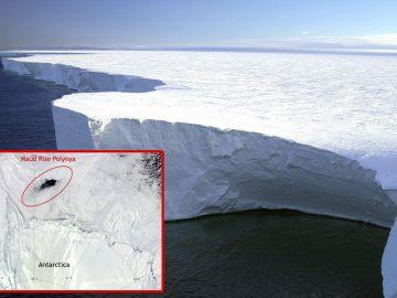 Un agujero del tamaño de una ciudad apareció en la Antártida