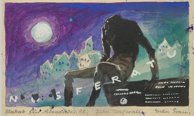 Ilustración de Nosferatu obra de Albin Grau