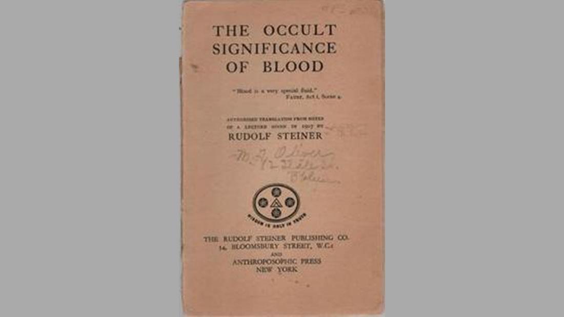 El Significado Oculto de la Sangre. Rudolf Steiner, 1906
