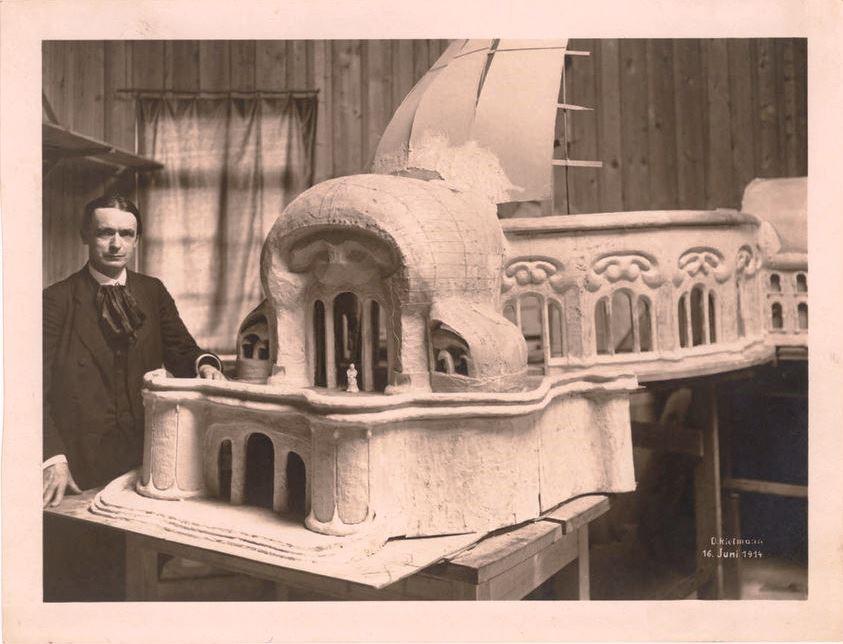 Fotografía del gran Rudolf Steiner, durante su estancia en Suiza, 1914
