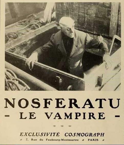 Cartel Francés de 1922, promocionando el film