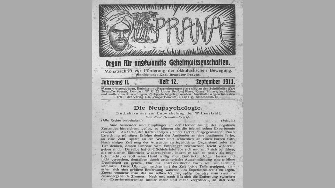Prana, revista teosófica, editada por Hugo Vollrath