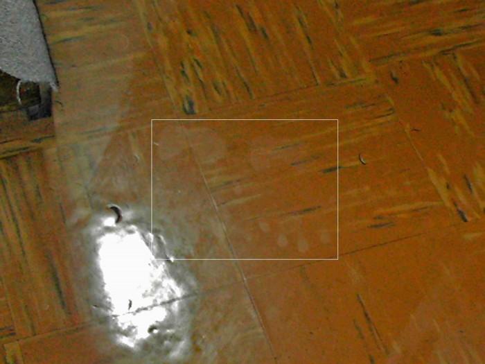 Huellas de manos en el piso
