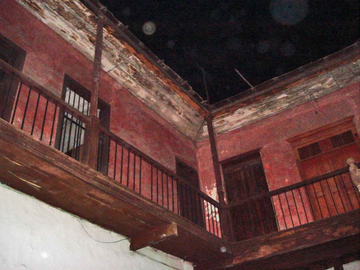 El segundo piso deshabitado