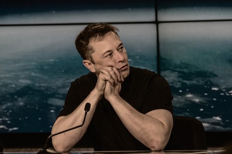Elon Musk en una conferencia