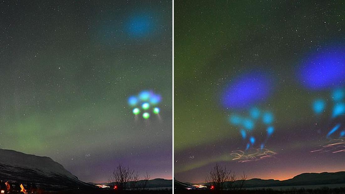 Extrañas luces «alienígenas» en movimiento aparecen sobre el Ártico y NASA dice que fue un experimento