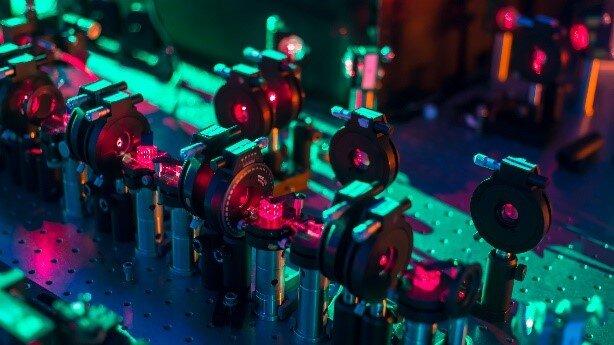 Una imagen del dispositivo experimental utilizado para el experimento