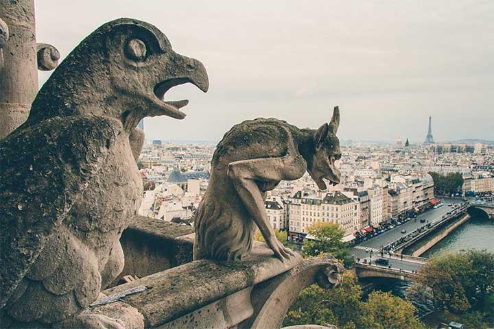 Gárgolas y quimeras en Notre Dame