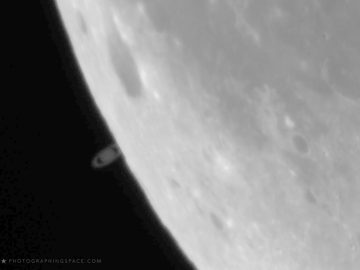 Impresionante vídeo muestra a Saturno siendo ocultado por la Luna